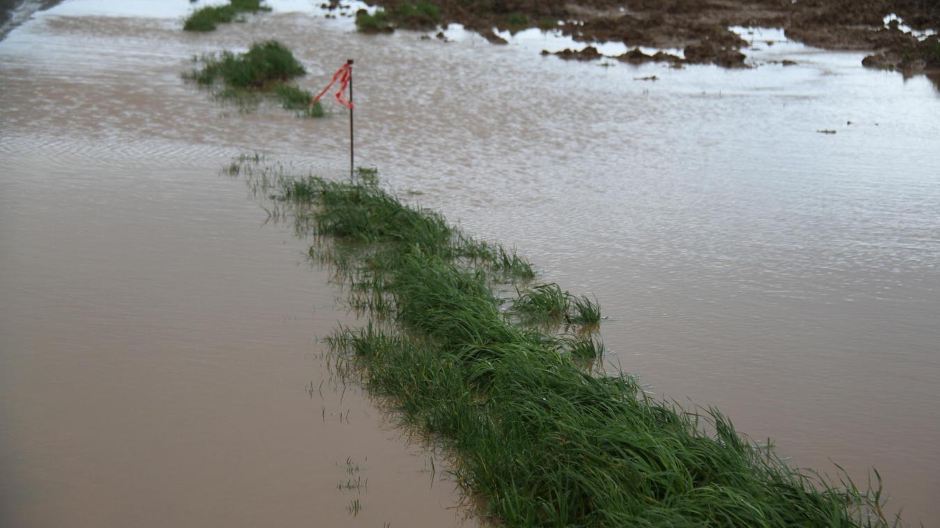 Des inondations ont gagné le Desvrois durant la nuit du réveillon de Noël.