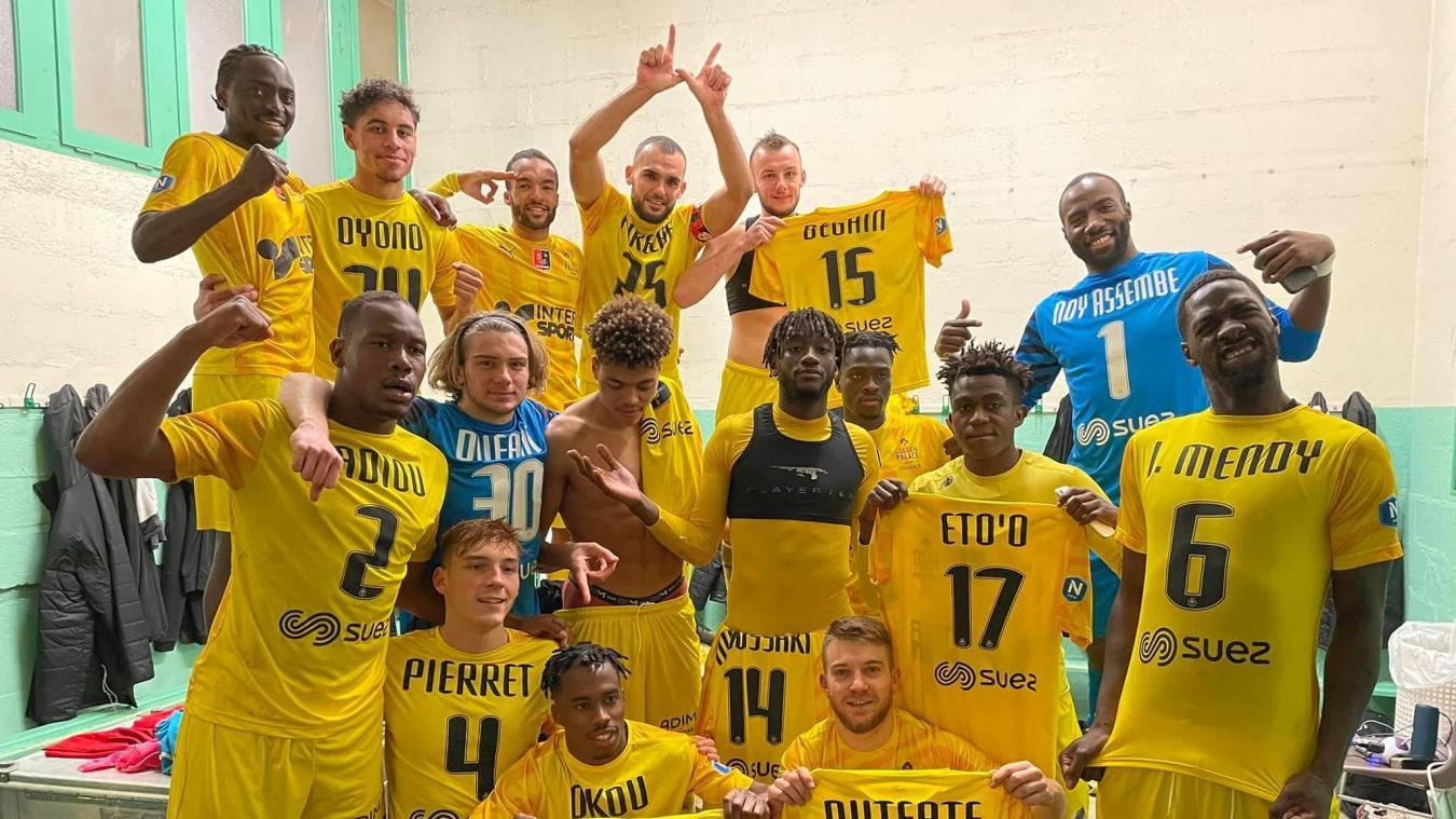 La joie des joueurs après la victoire face à Cholet.