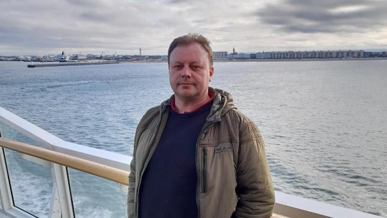 René Lejeune a repris la route de Londres dès lundi après son long week-end, en prenant cette fois un ferry...