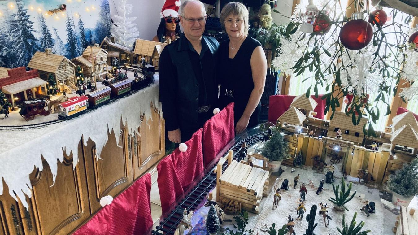 Patrick et Muriel dans l'univers qu'ils préparent spécialement pour le mois de décembre.