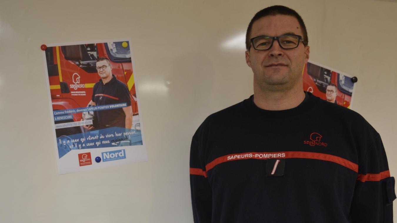 Le sergent Frédéric Deldicque pose sur les affiches de recrutement.