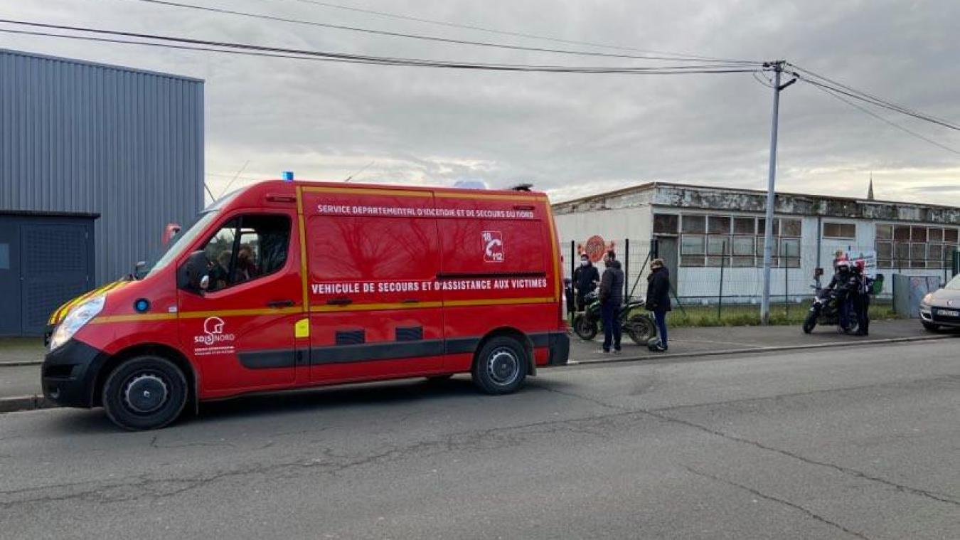 L'accident a eu lieu rue du milieu à Hazebrouck.