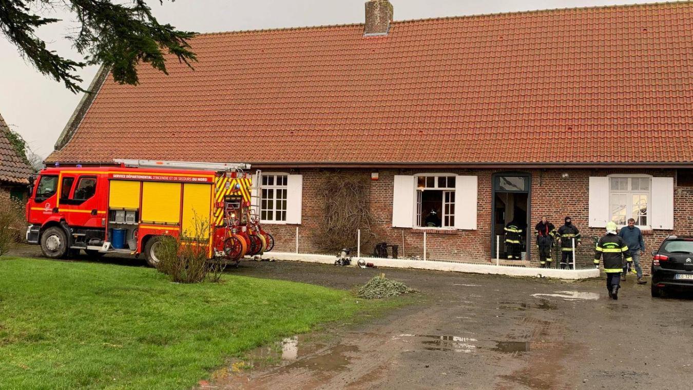 Le feu de fauteuil s'est déclaré rue de l'Ermittage à Terdeghem.