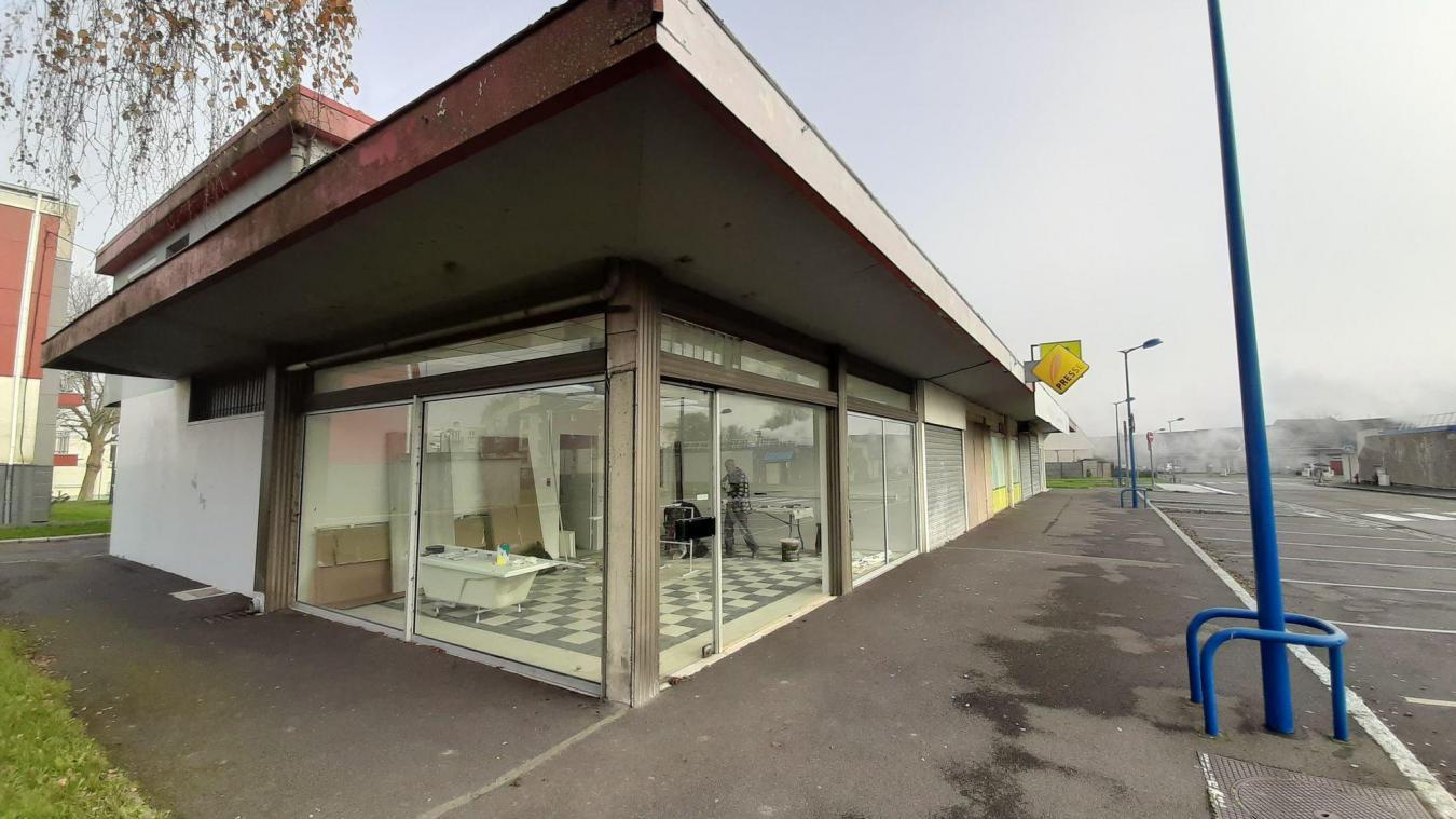 Un atelier insertion a réalisé des travaux dans le local du futur point services, début décembre.