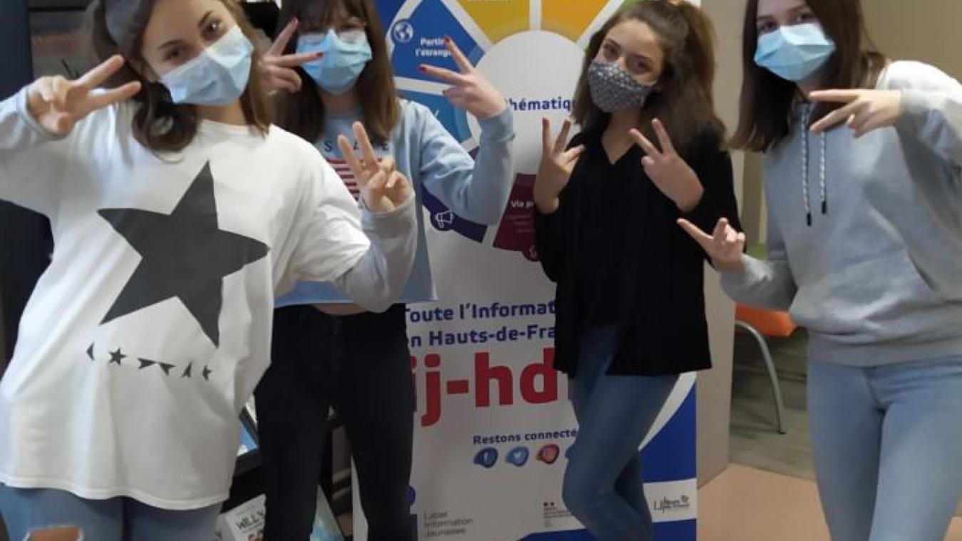Les quatre jeunes filles du collège Jacques-Prévert à Watten espèrent une réponse positive en janvier.