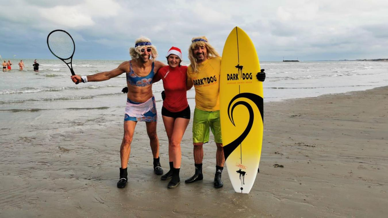Un besoin de se retrouver sur la plage de Malo pour fêter ce premier jour de l'année!