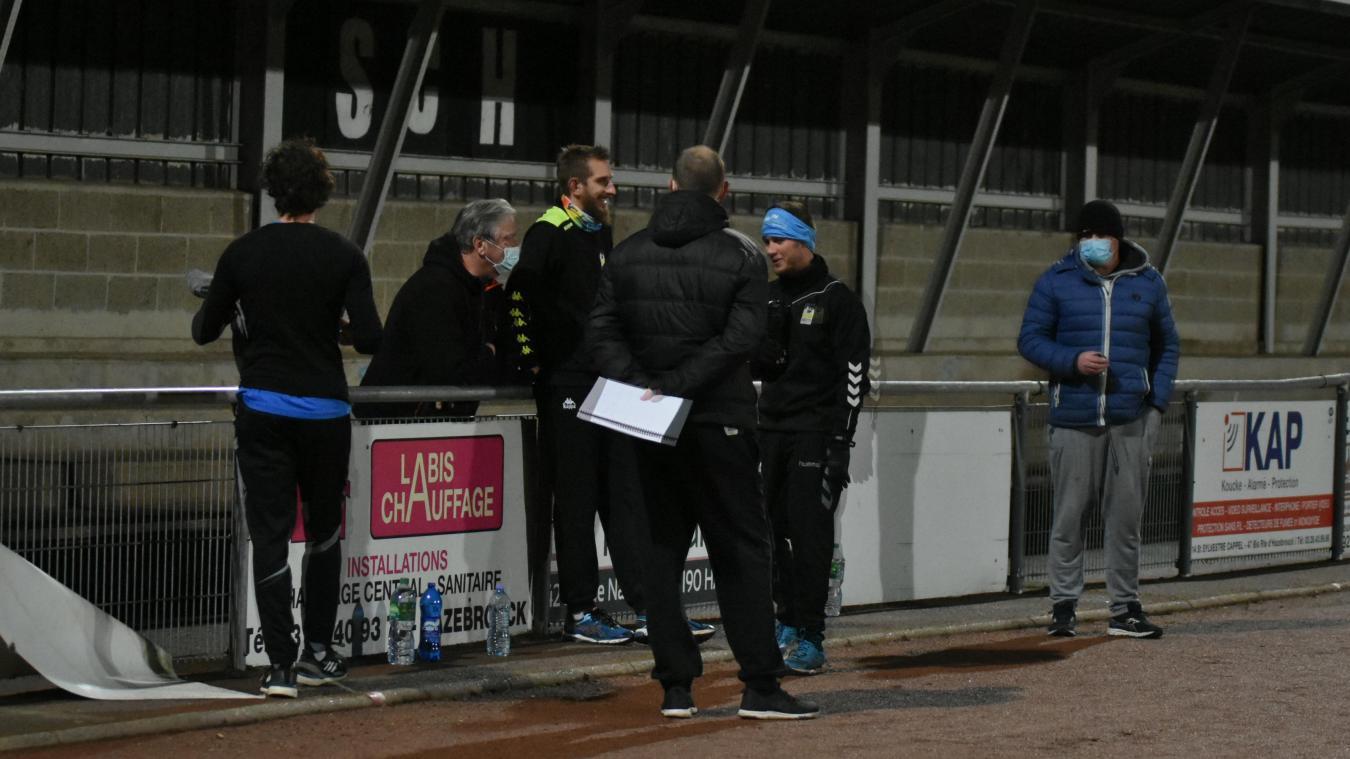 Une poignée de joueurs de la N1 du HBH a retrouvé le chemin de l'entraînement lundi 28 décembre.