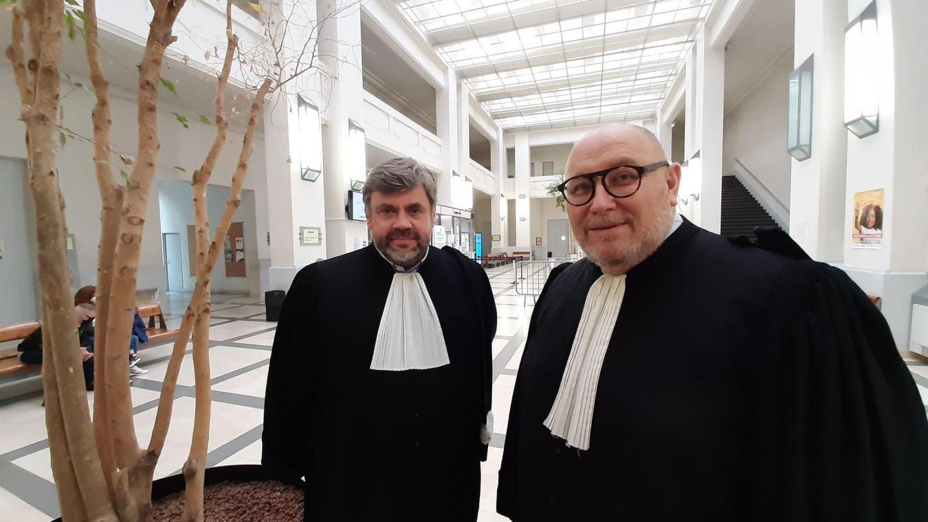 Mes David Mink (à gauche) et Jérôme Delbreil (à droite), ont pris respectivement la responsabilité de vice-bâtonnier et bâtonnier, le 1er janvier.