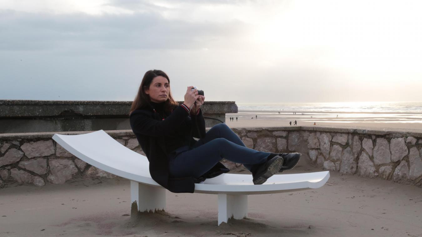 Anne-Charlotte Moulard ou la photographe photographiée à Stella-Plage, un endroit qu'elle affectionne particulièrement.