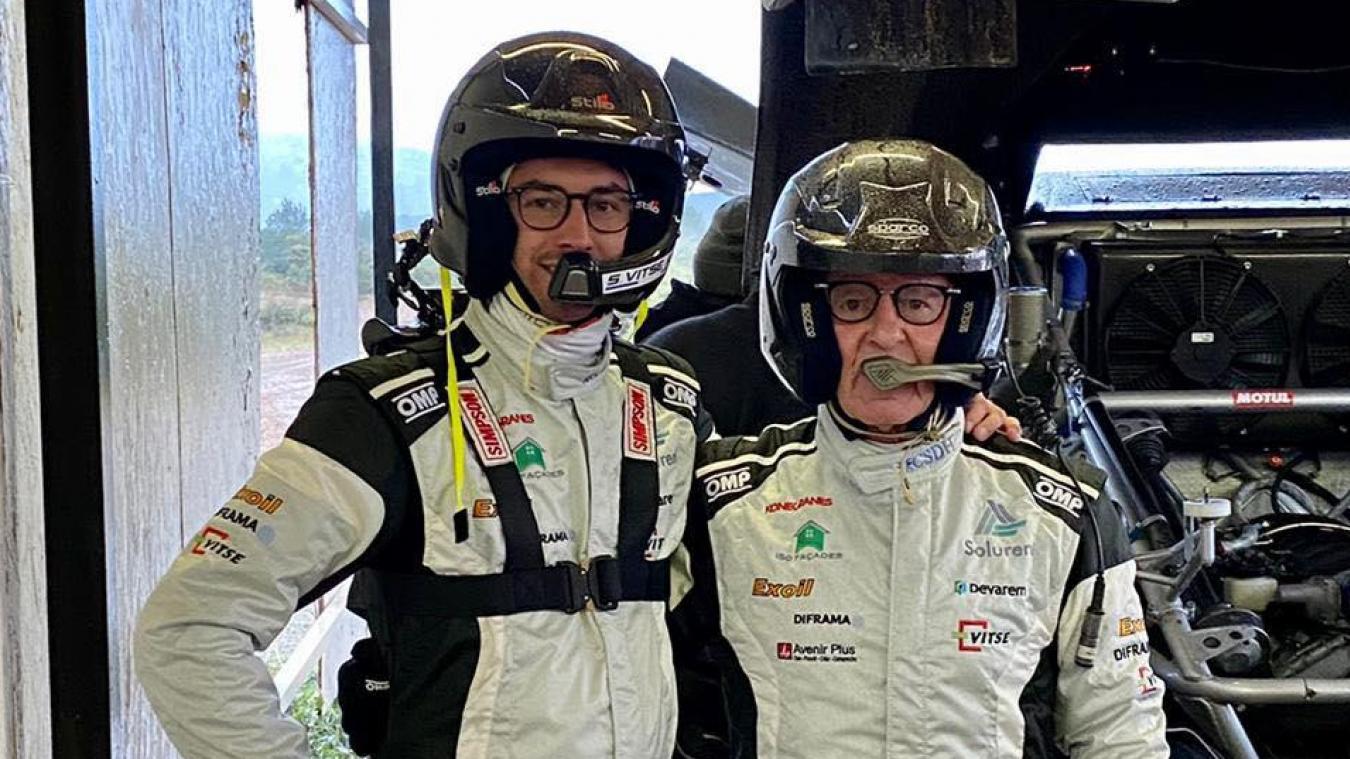 Simon Vitse est parti pour la première fois en tant que co-pilote. Il accompagne Dominique Housieaux.