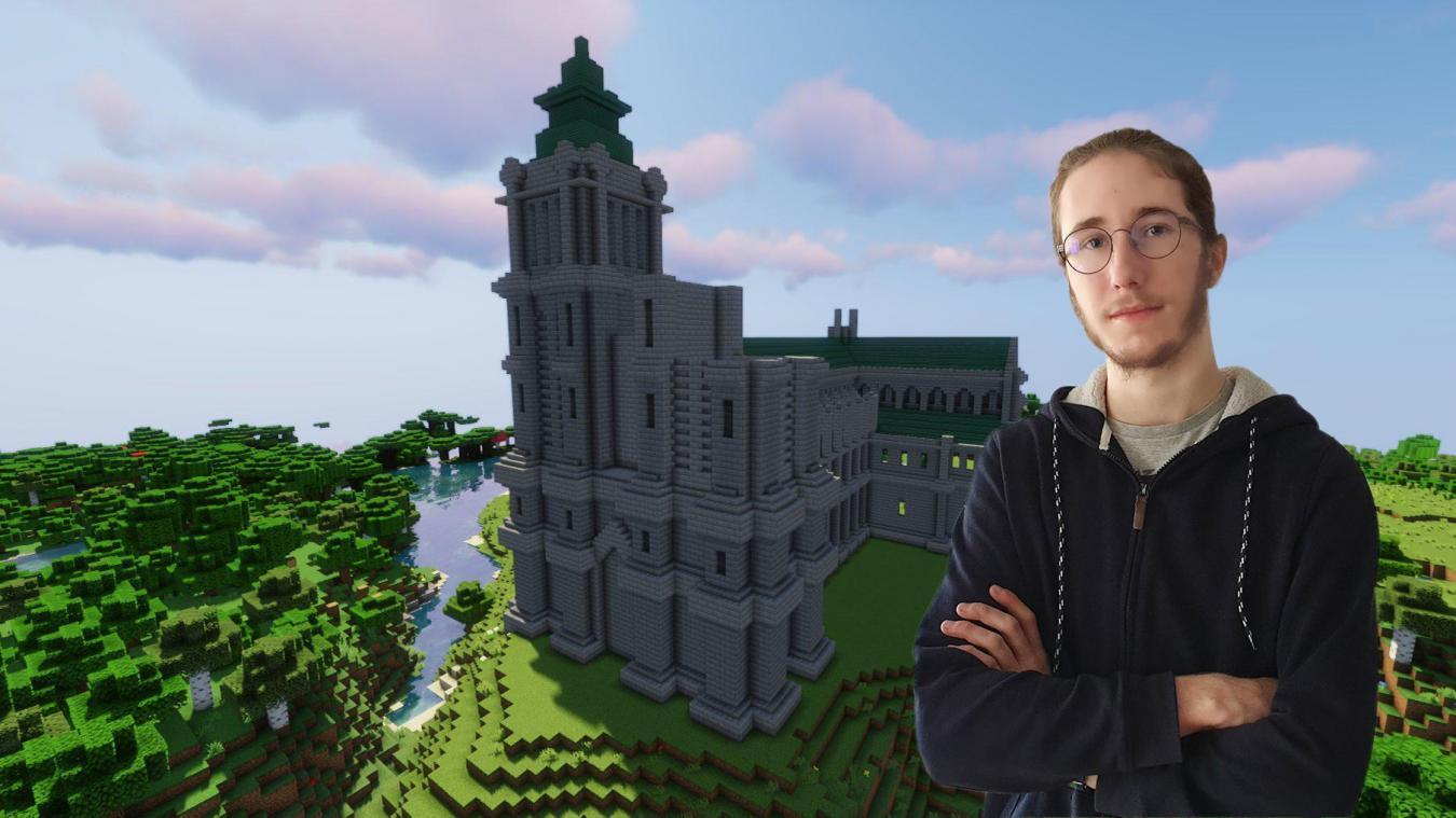 Arras: Maxence reconstitue une cathédrale disparue grâce à Minecraft