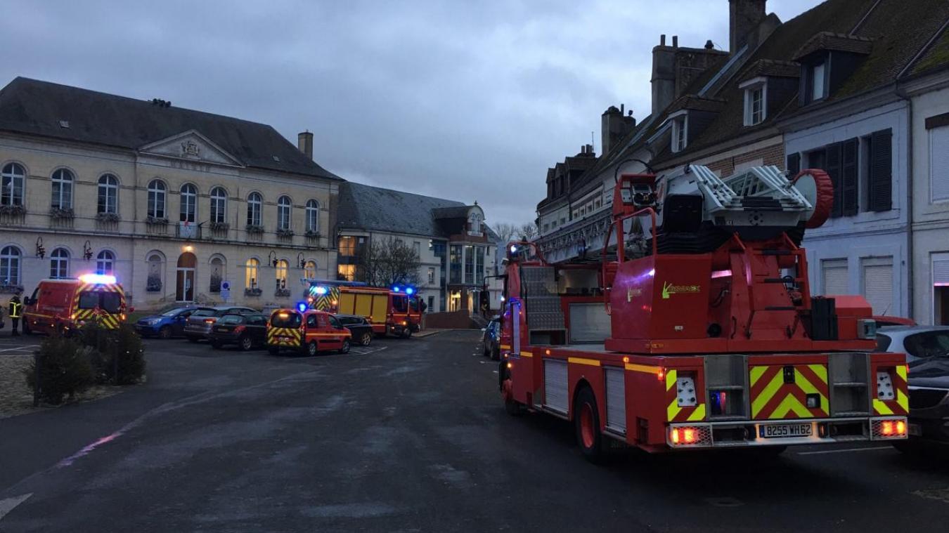 L'intervention des pompiers a été levée vers 9h15.