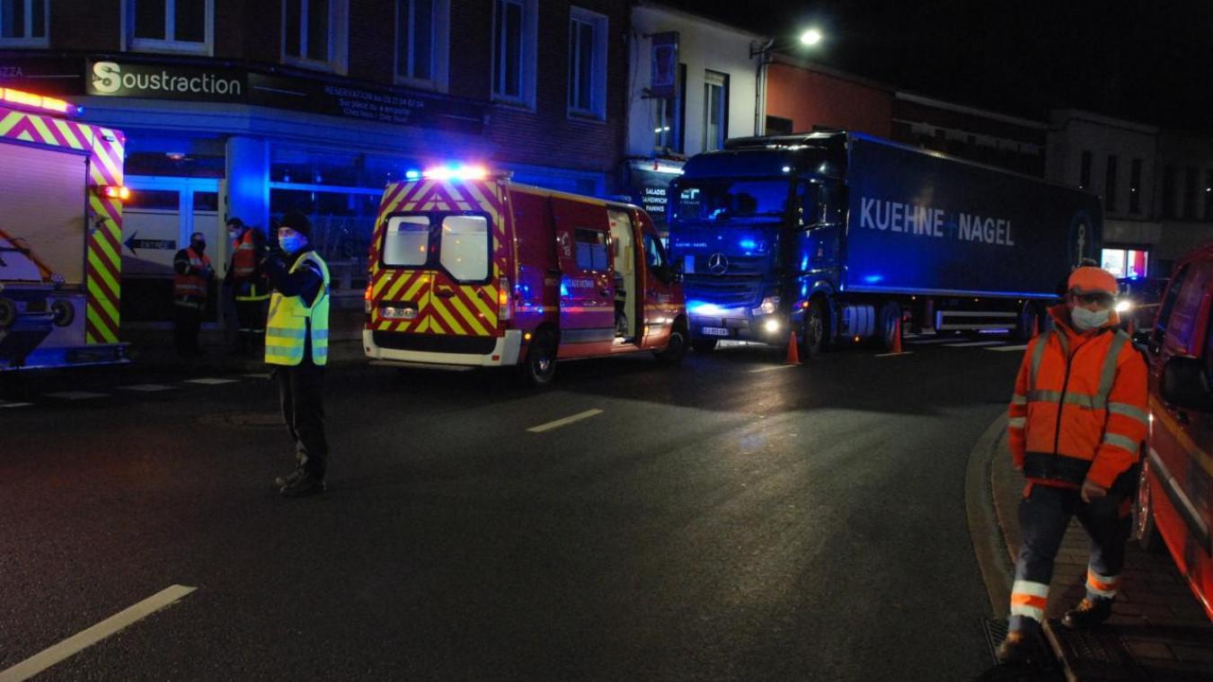L'accident a eu lieu dans le centre-ville de Fruges.