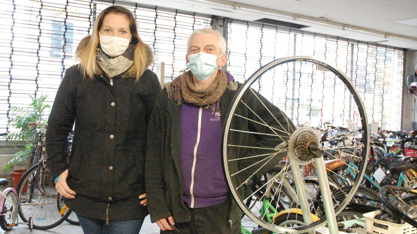 Cindy Lavigne et Frédéric Boulanger, d'Opale Vélo Services.