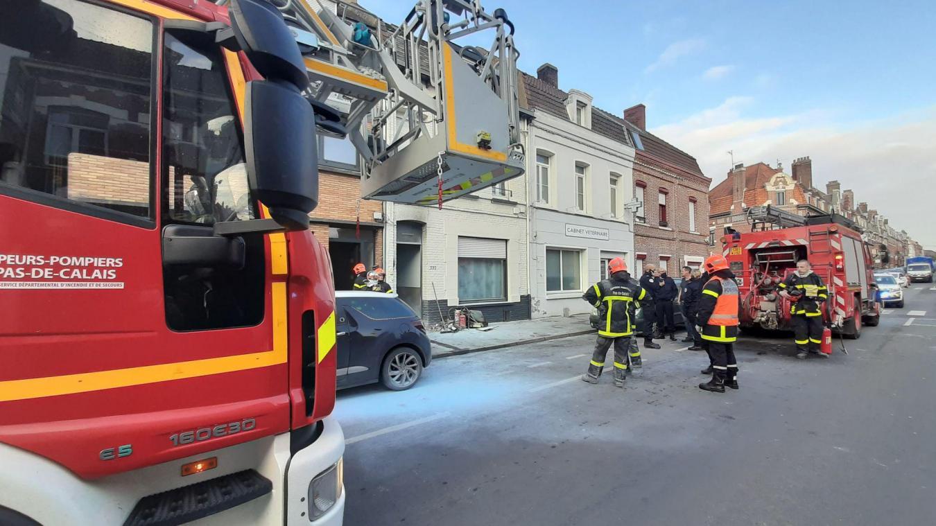 Béthune: un compteur électrique prend feu, boulevard Jean-Moulin