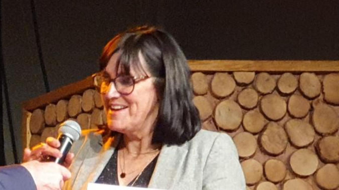 Cathy Apourceau-Poly lors de la cérémonie des voeux 2020 de Sains-en-Gohelle.
