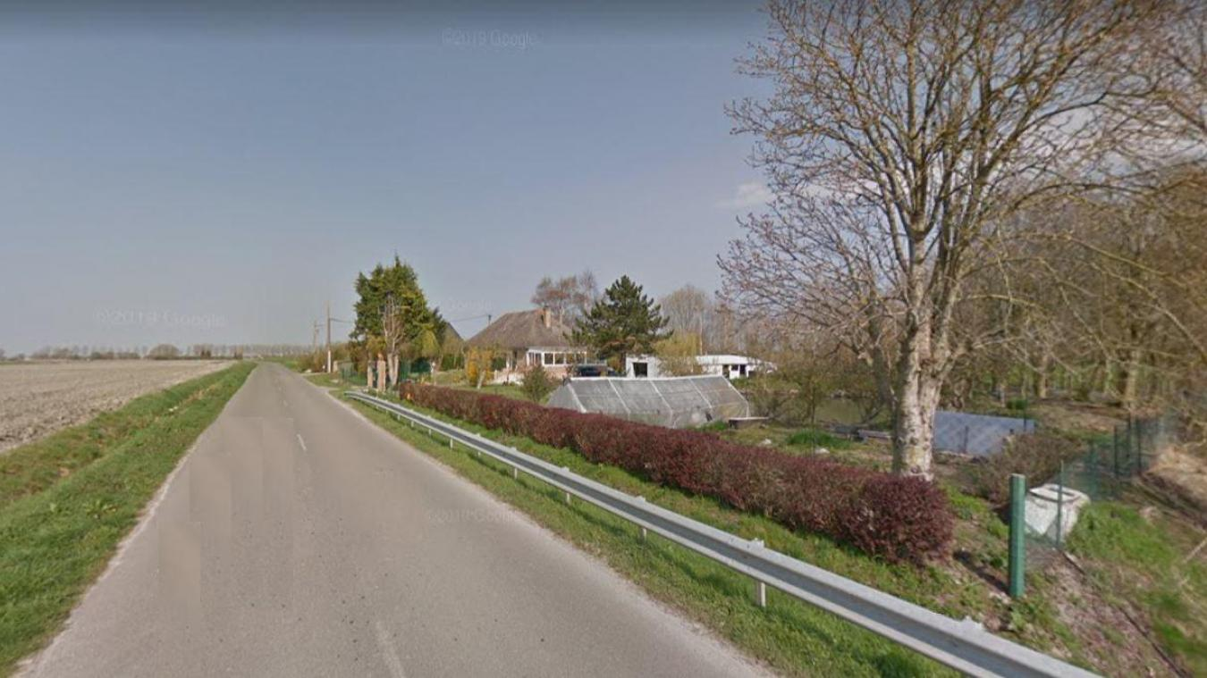 Les travaux seront compris entre le n° 849 et n°1863 de la route de l'Hossenaere de Looberghe.