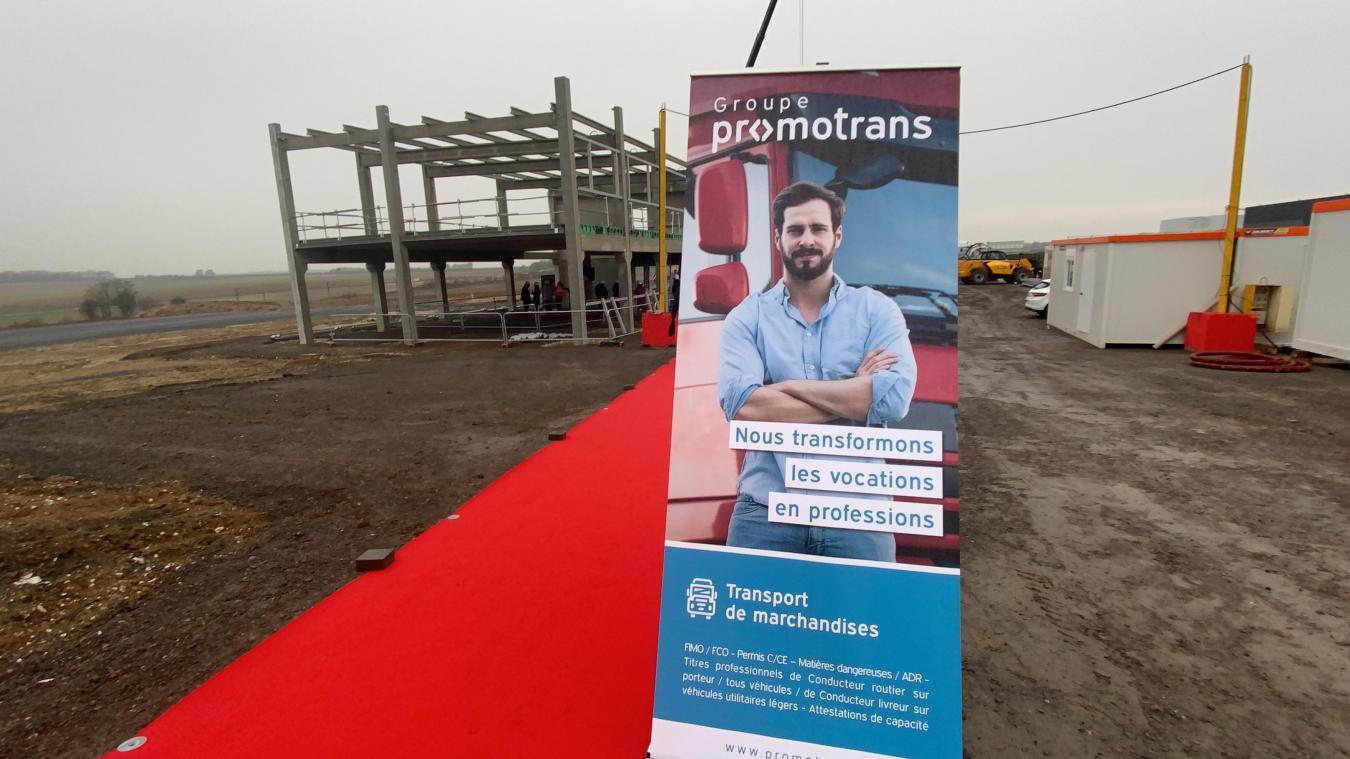 Un centre de formation en construction à Saint-Laurent-Blangy pour Promotrans