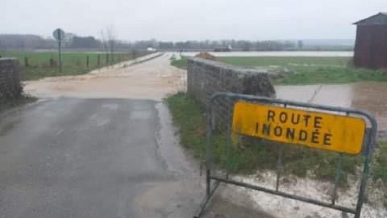 La situation à Aire-sur-la-Lys, hameau de Saint-Quentin, jeudi 14 janvier, en milieu d'après-midi.