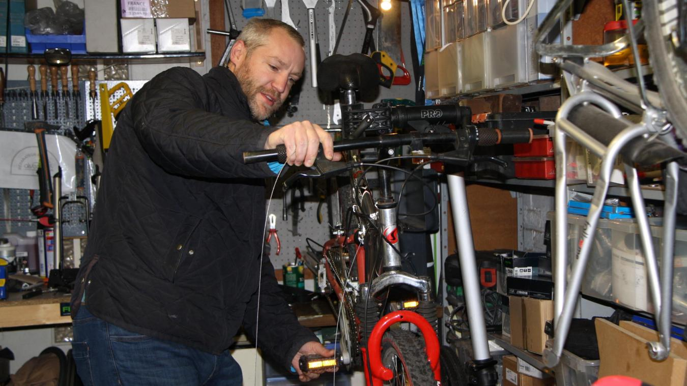 116 vélos réparés pour le professionnel d'Arras Nicolas Laizeau