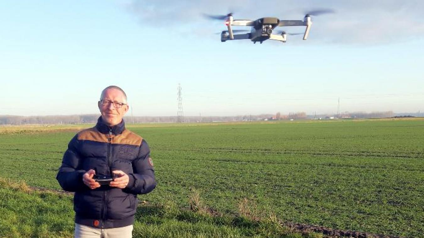 David Pihen a ouvert sa société d'électrotechnique et inspection par drone.