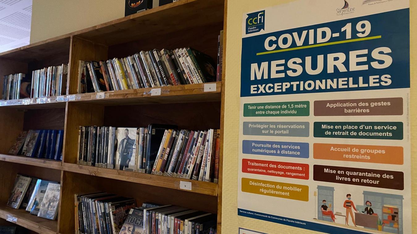 Depuis quelques semaines, il est possible d'emprunter des DVD.