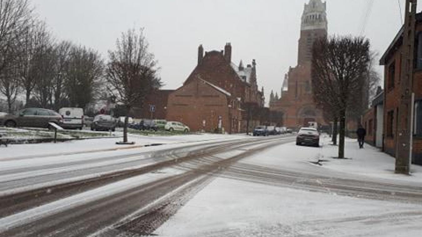 La neige est arrivée en Flandre (photos)