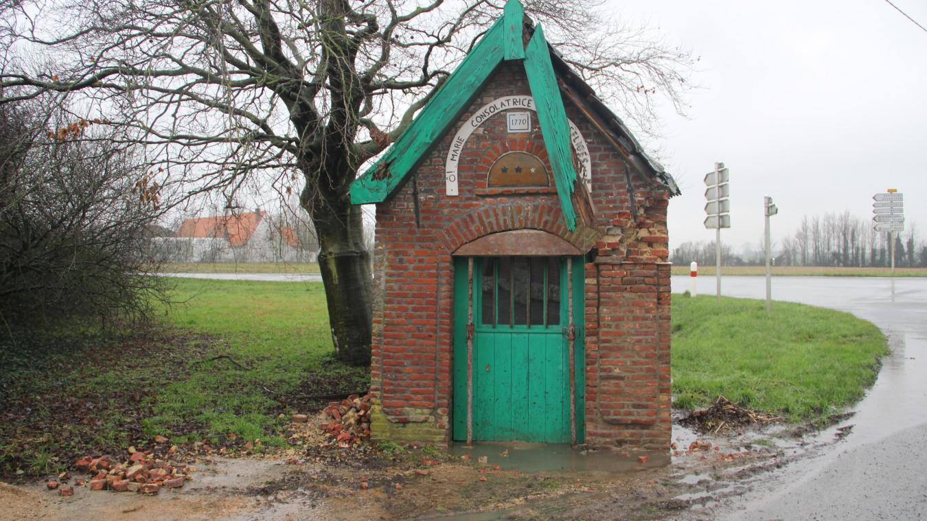 Yser Houck rénove la chapelle de l'Haeghedoorne à Wemaers-Cappel