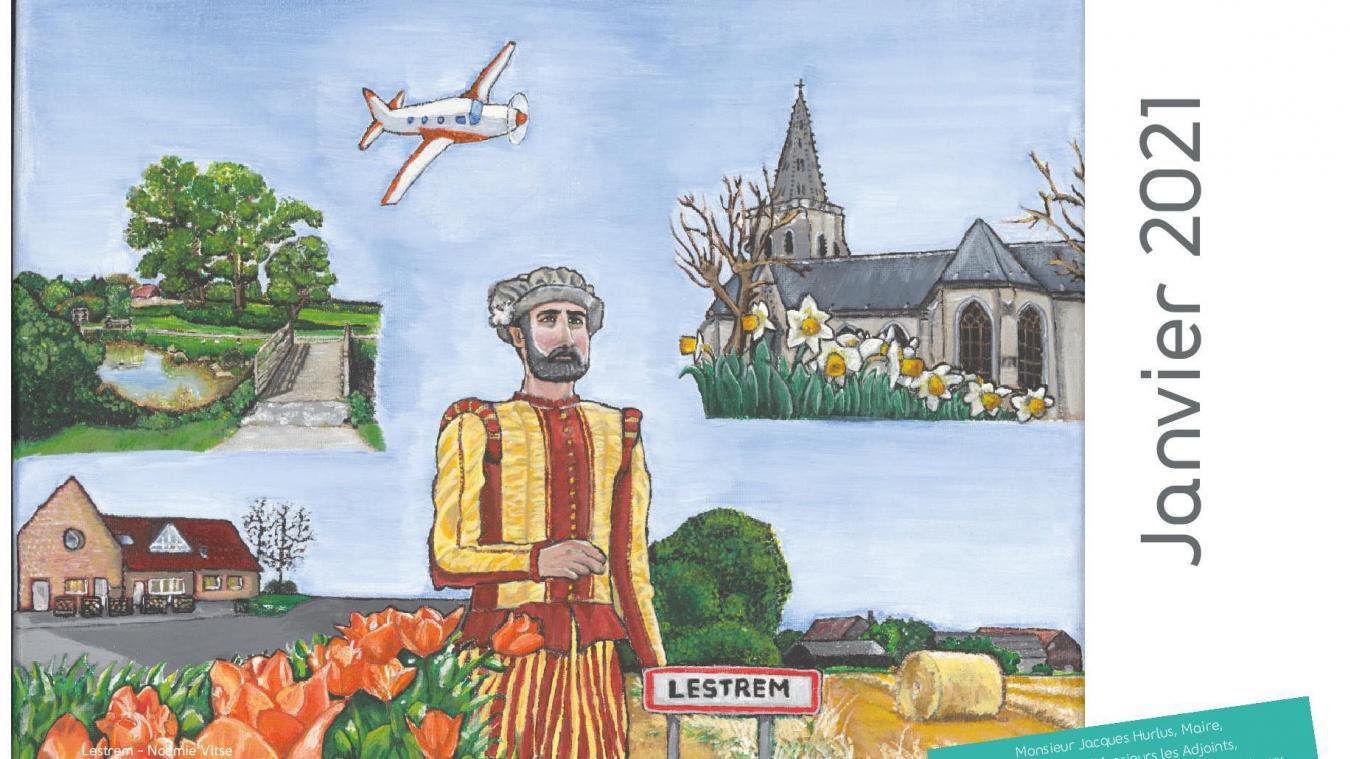 Le calendrier est illustré à partir des œuvres des habitants qui ont participé à un concours artistique.