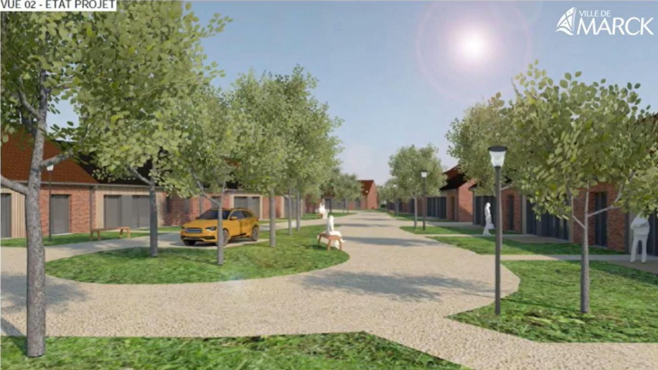 Une vue des futurs logements qui seront construits rue Jean Bart, à l'entrée des Hemmes de Marck.