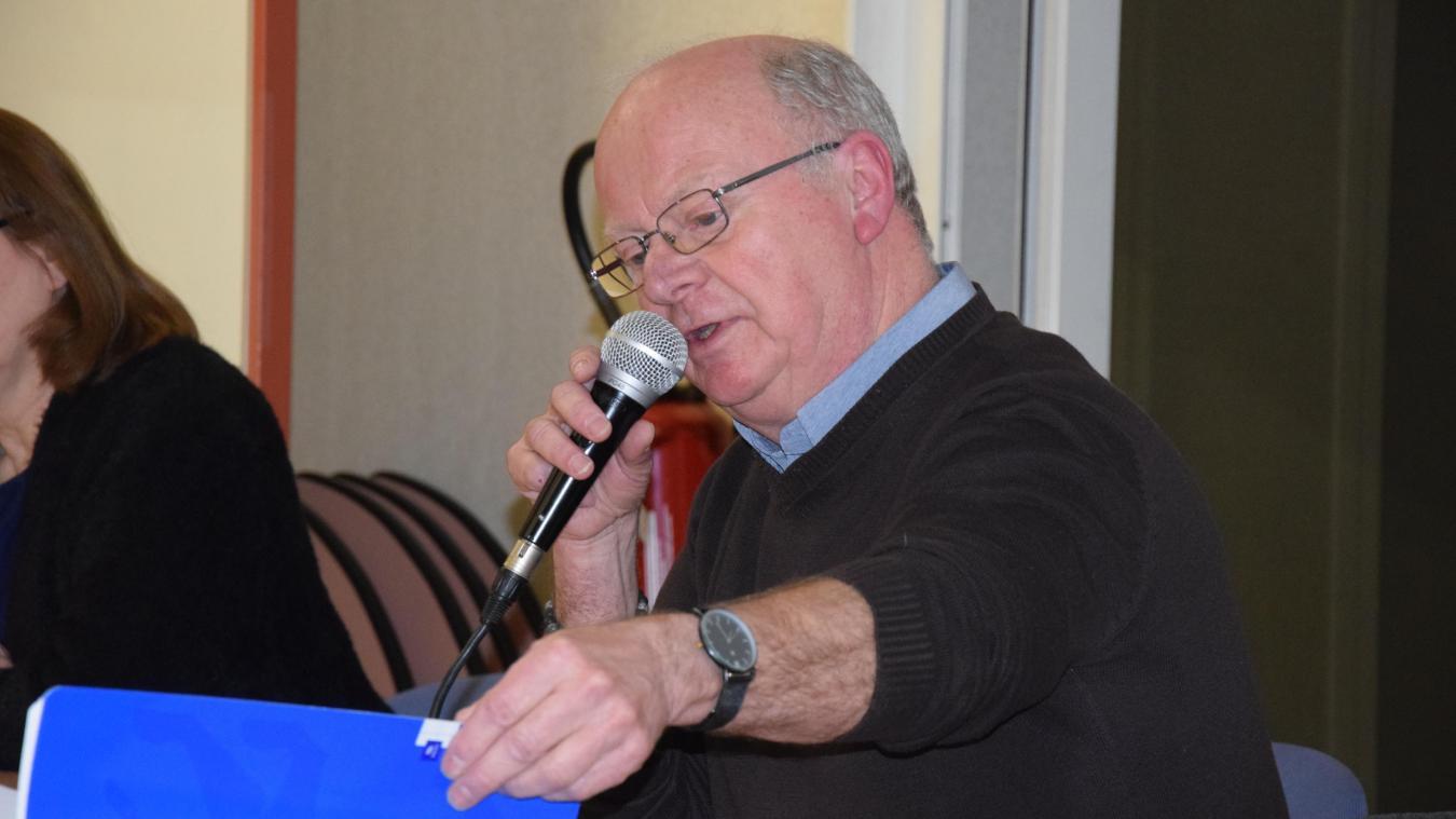 Le président du Groupement des commerçants Michel Guilbert, lors de la dernière assemblée générale en mars 2020.