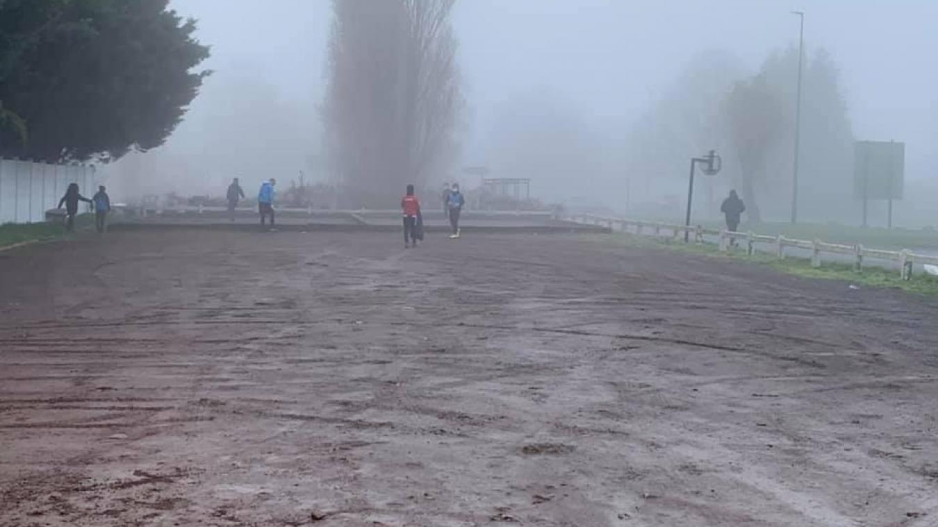 Les jeunes ont bravé le froid et le brouillard pour la bonne cause.