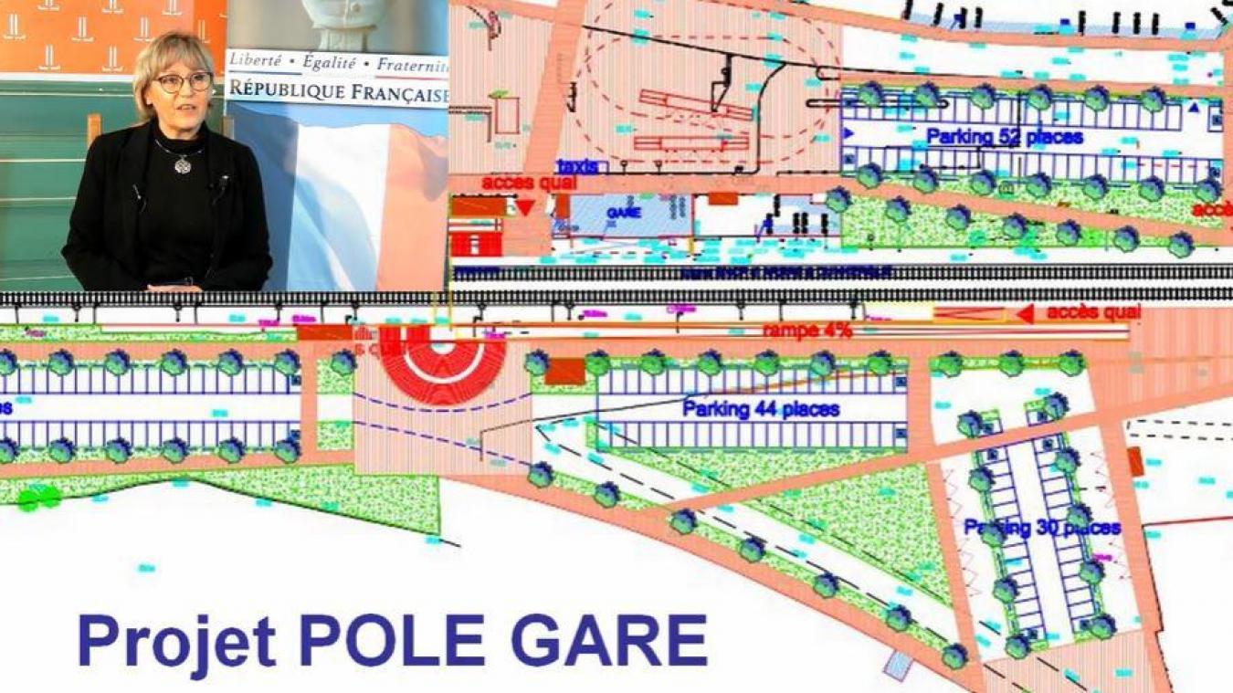Un schéma du projet pôle gare a été présenté de manière rapide lors des vœux en ligne.