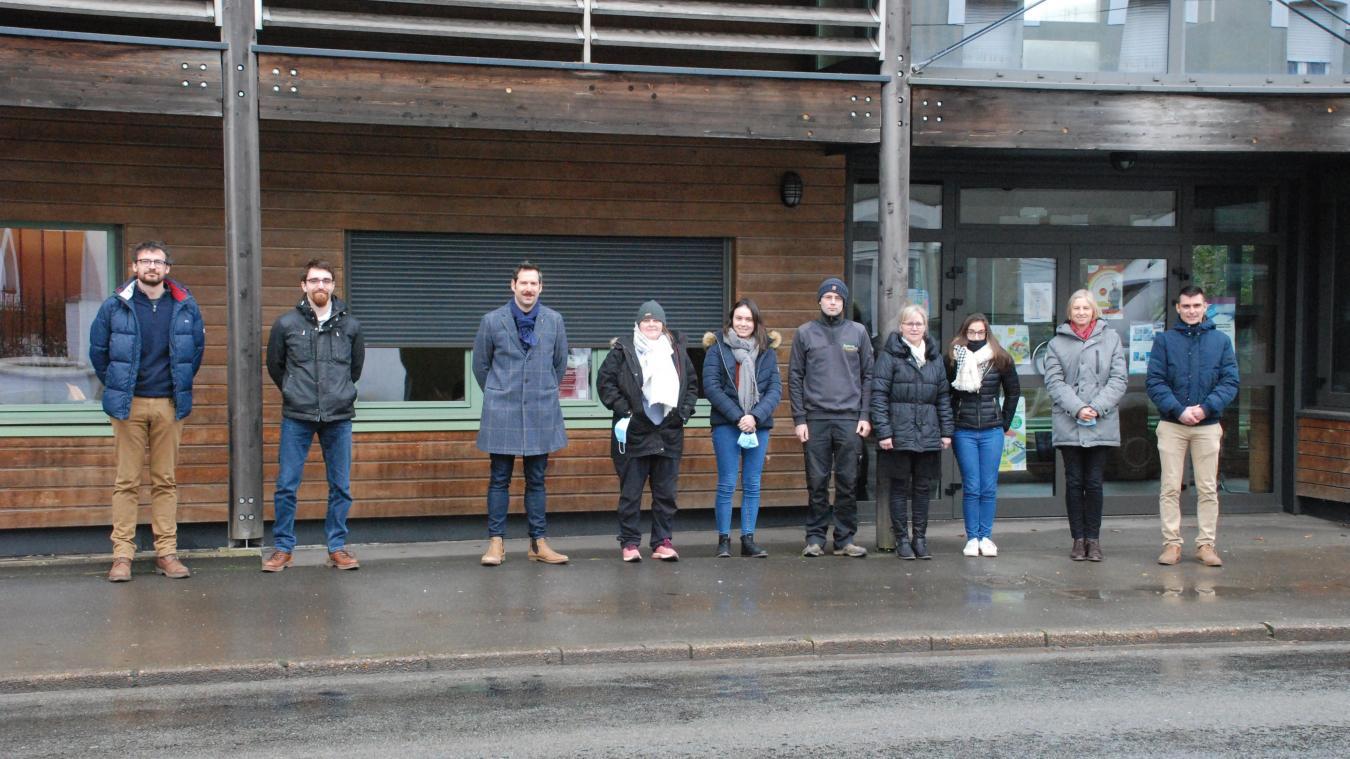 Les équipes du Symcea ont pris leurs quartiers à la maison du bois.