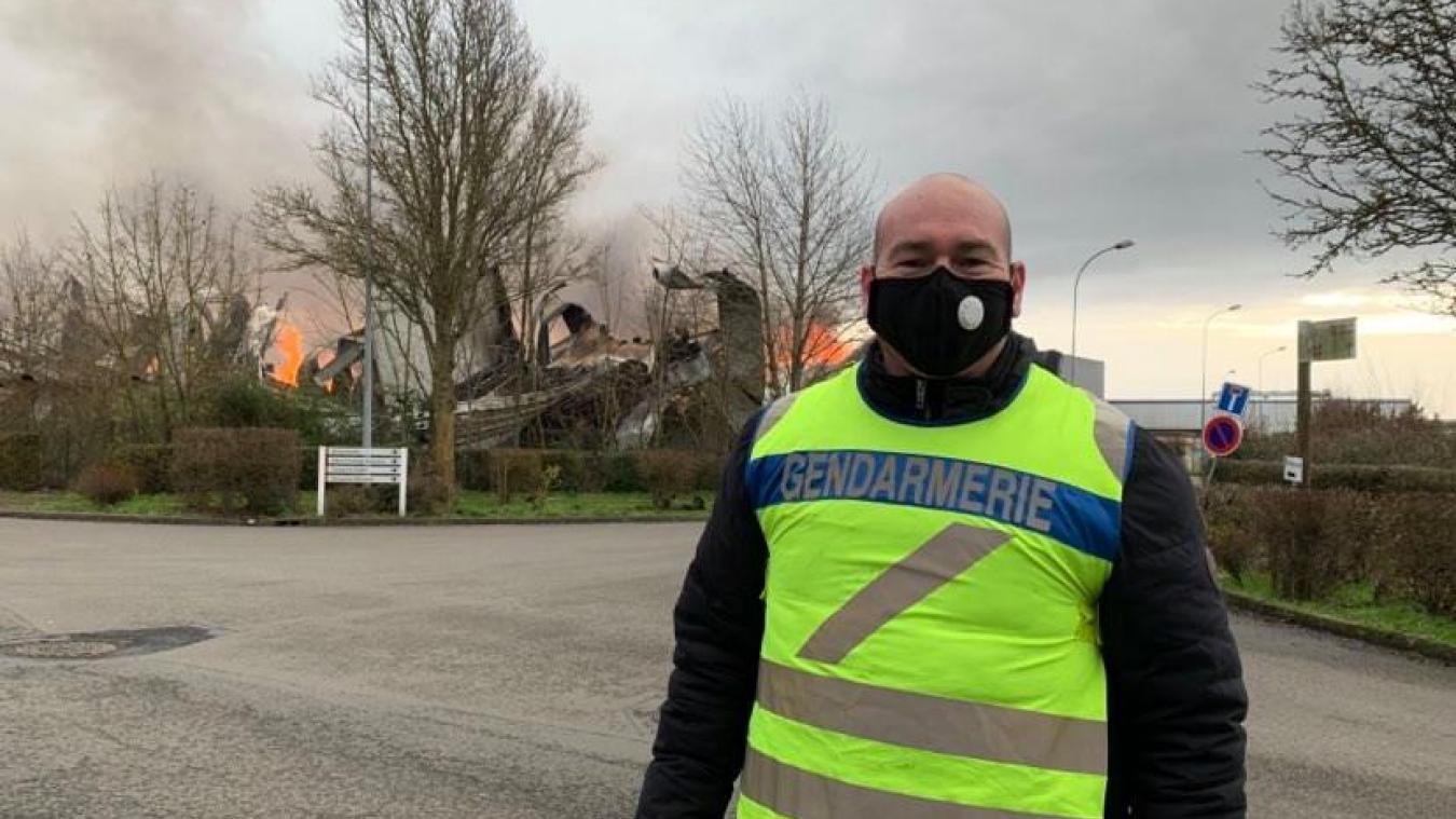 L'adjudant Amaury faisait partie des quatre gendarmes de Calais qui se sont rendus en premiers sur place.