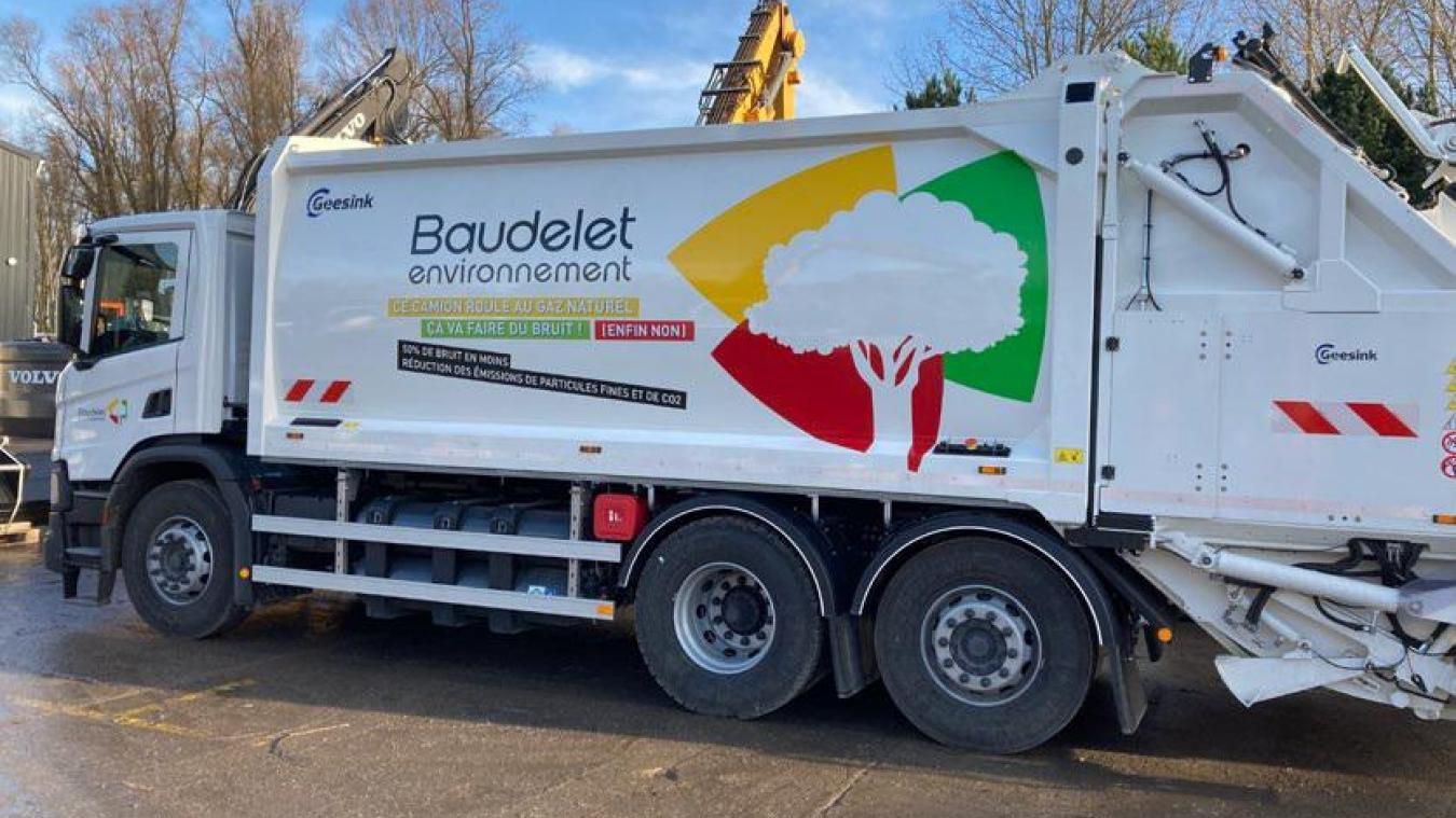 L'entreprise Baudelet s'est équipée de deux bennes à ordures roulant au gaz naturel.