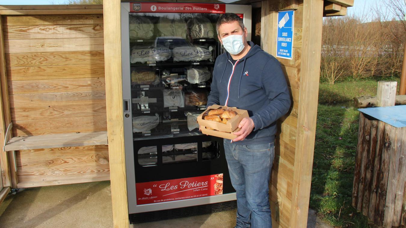 Julien Canu, de la boulangerie des Potiers à Desvres, mûrit son projet depuis un an.