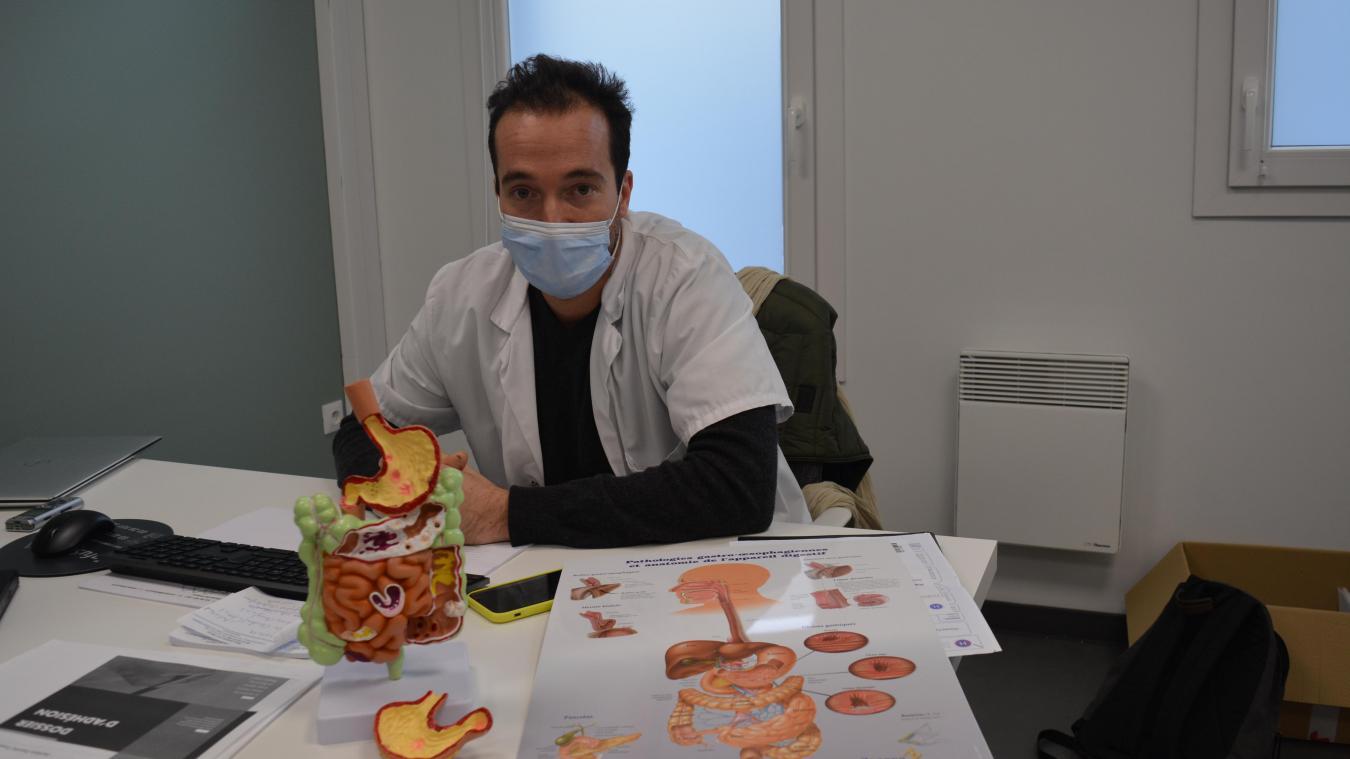 Alexandre Mensier est venu renforcer l'équipe de la clinique Anne d'Artois.
