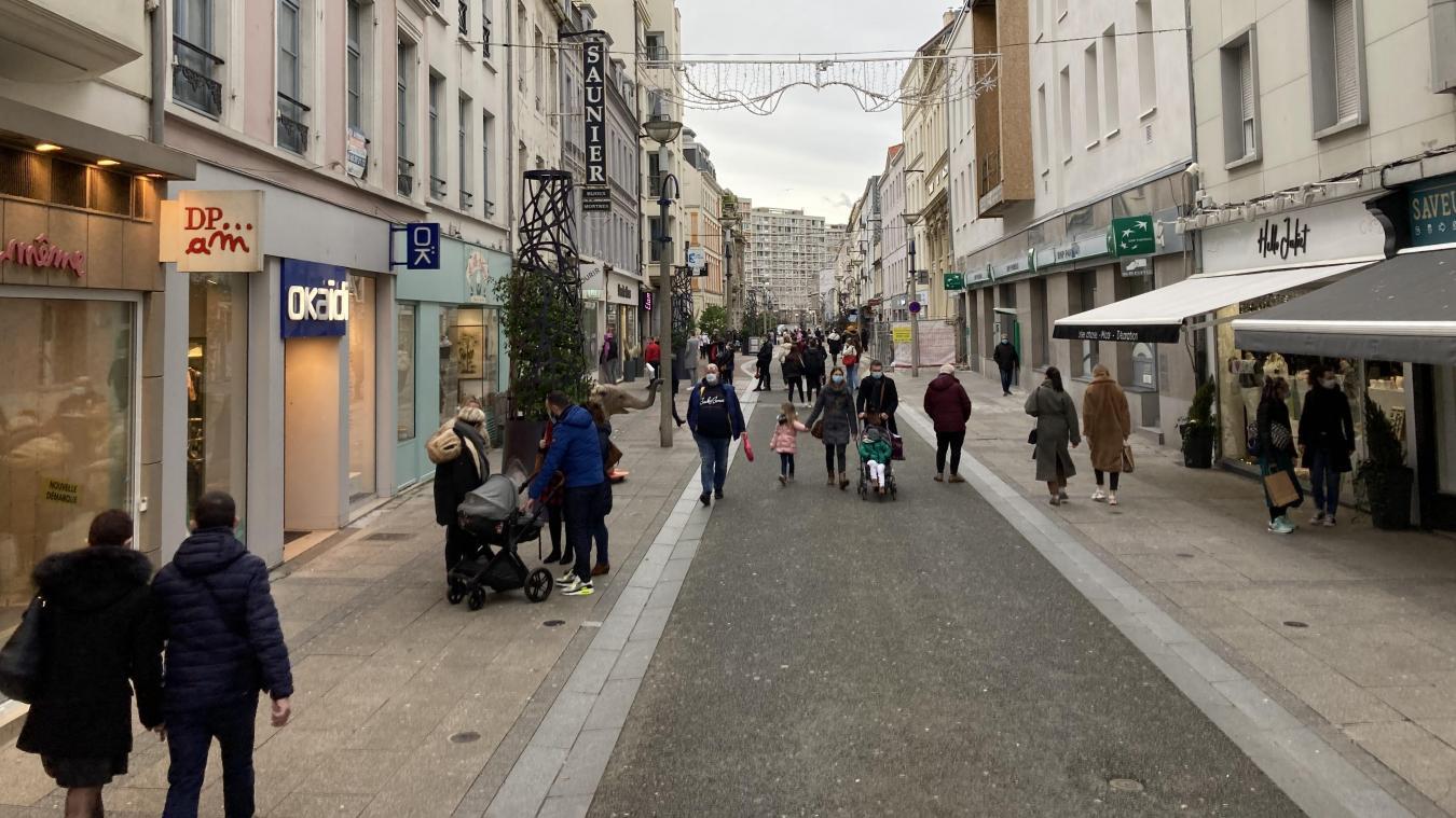 La rue Victor Hugo n'a pas attiré les foules ce samedi 23 janvier.