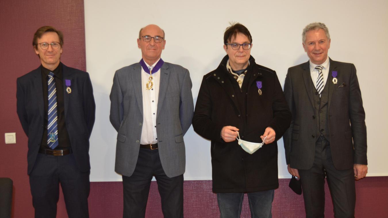 Bertrand Cassoret, Daniel Ammeux, Yvon Peers et Gary Manner ont été mis à l'honneur.