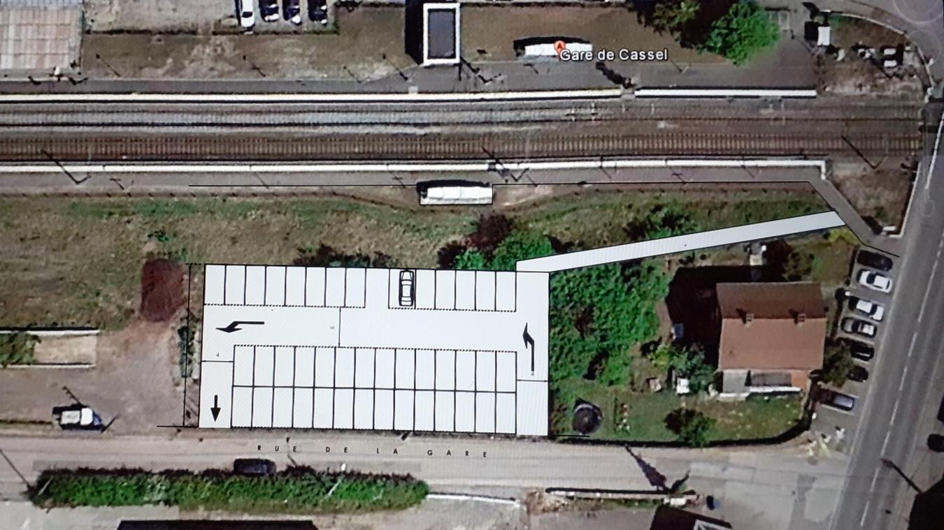 Le nouveau parking s'implantera en lieu et place du skatepark.