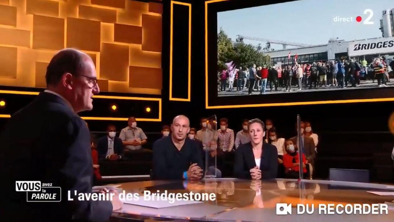 Célyne Catez et son compagnon ont fait face au ministre dans une émission de France 2.
