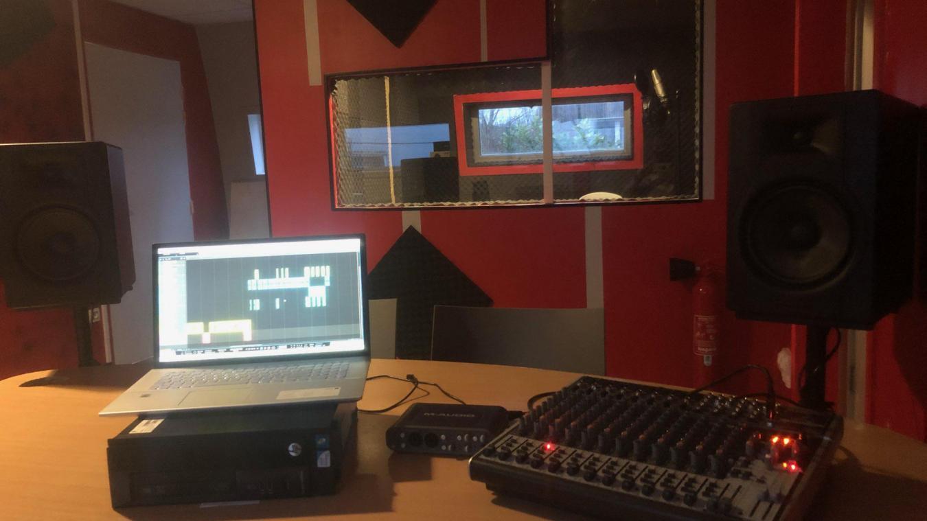 Un vrai studio d'enregistrement comme celui des professionnels.