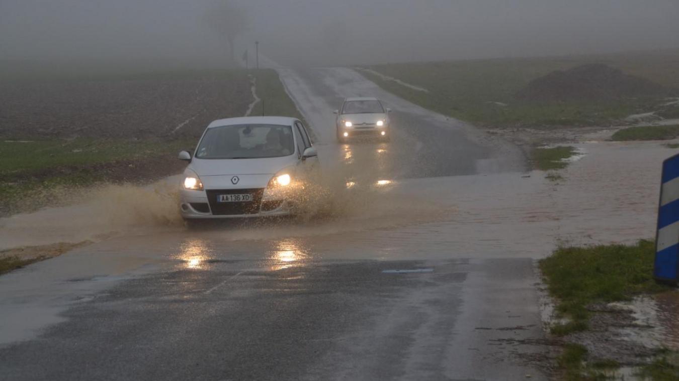 Fortes pluies depuis ce jeudi matin dans l'arrondissement de Montreuil.