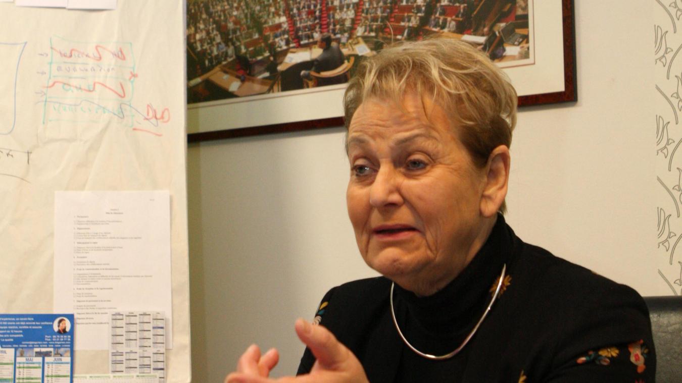 Jacqueline Maquet est attentive à la réalisation de projet comme le commissariat d'Arras.