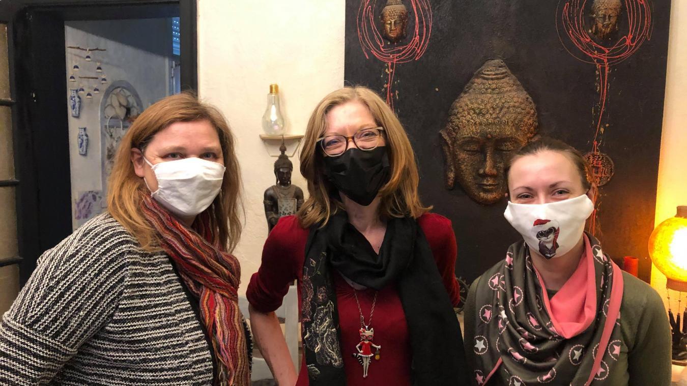 Les bénévoles de l'association, malgré les sourires cachés par les masques, s'inquiètent de ces disparitions.