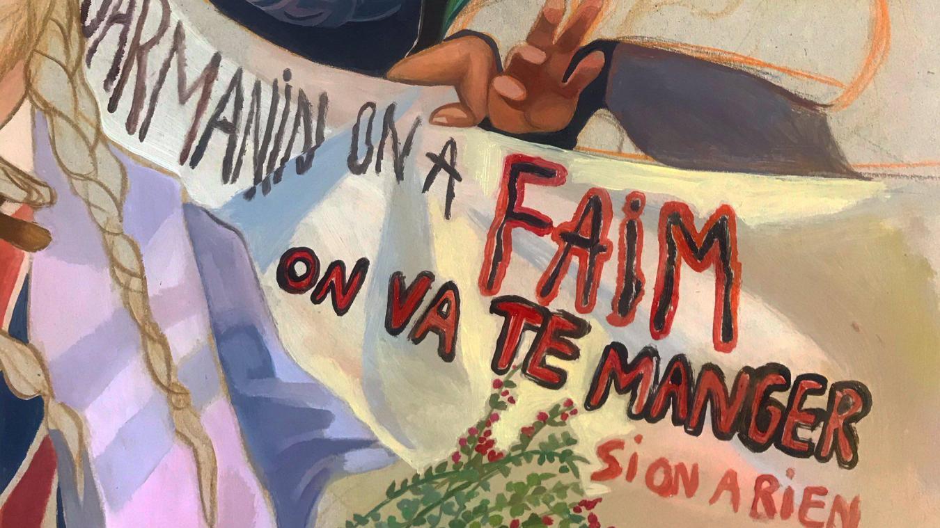 Les migrants voulaient manger Darmanin…, et inspirent une artiste de Calais