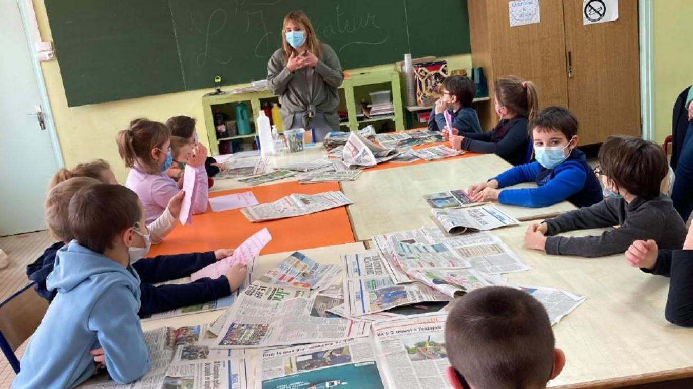Jeudi 21 janvier, les élèves de CE1/CE2 du groupe scolaire Pasteur étaient très curieux d'en savoir plus sur le métier de journaliste.