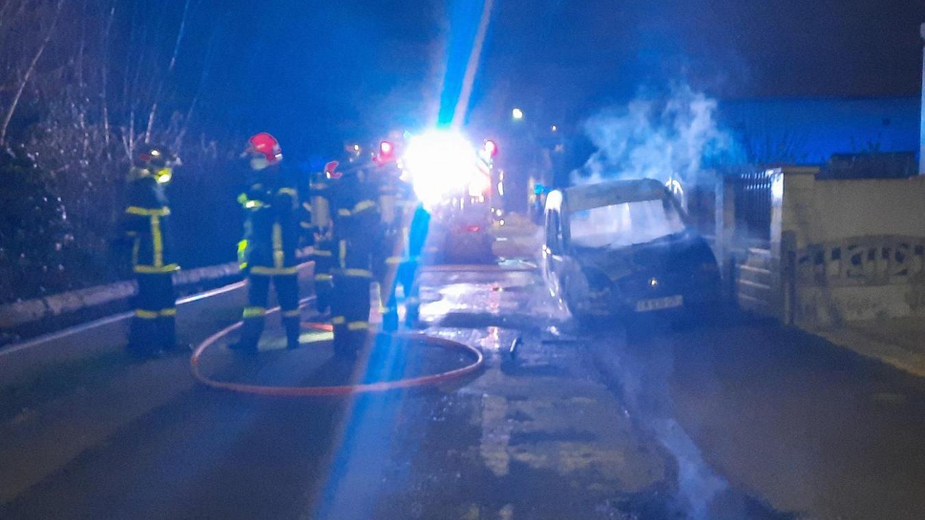 Berck : une voiture en feu