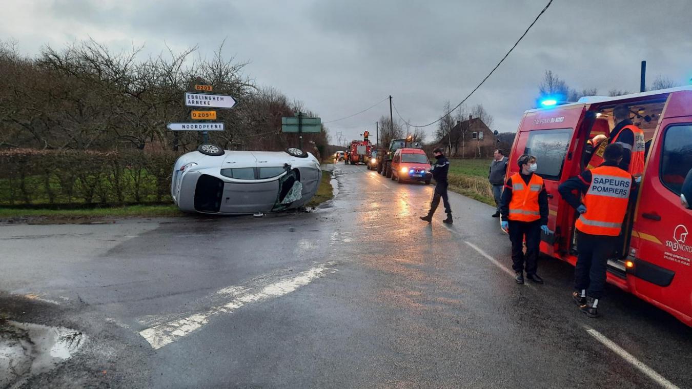 L'accident s'est produit à Clairmarais, à deux pas de Noordpeene.
